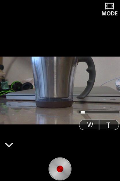 PlayMemories Mobile 4.0.1:動画撮影モード(ズーム利用時)