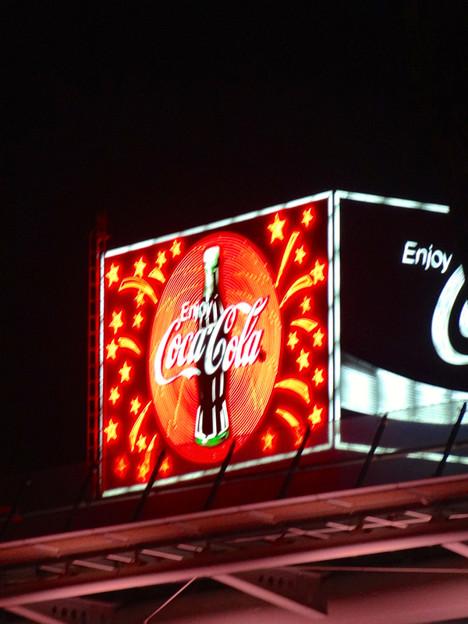 オアシス21近くのコーラの看板 No - 1
