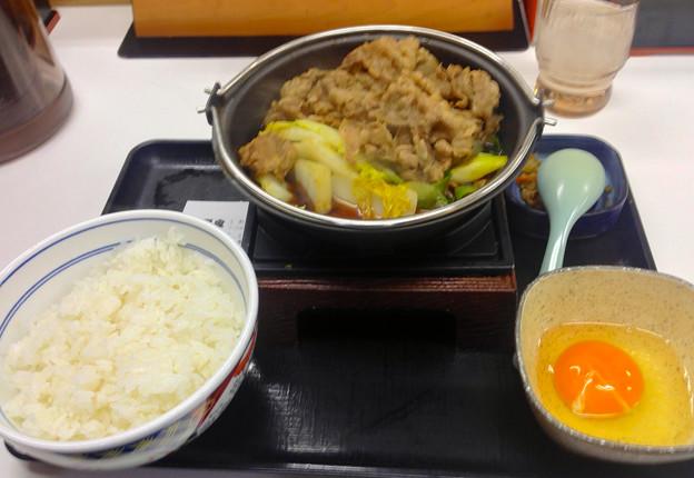 吉野家:牛すき焼き膳(並盛)