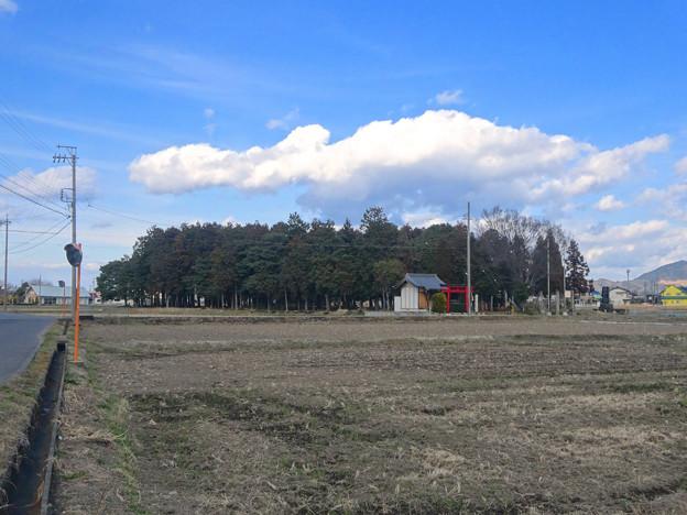 田んぼの中にポツンと浮かぶ、青塚前神明社 - 6