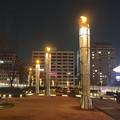写真: オアシス21にある、ロウソクのような照明 - 5