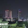 写真: 夜の向野橋から見た景色 No - 38:名駅ビル群