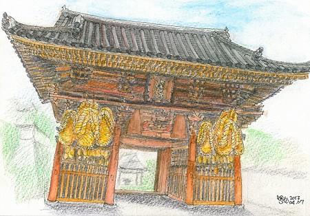 20130407尾道西國寺の門