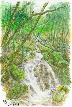 20130719白木の小さな滝
