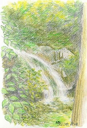 20130908煤井谷の小さな滝