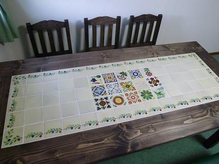 メキシコタイル ダイニングテーブル