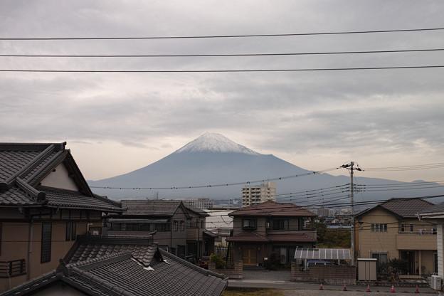 写真: 富士山初冠雪