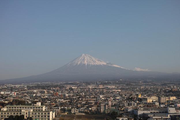 写真: 2014年元旦の富士山