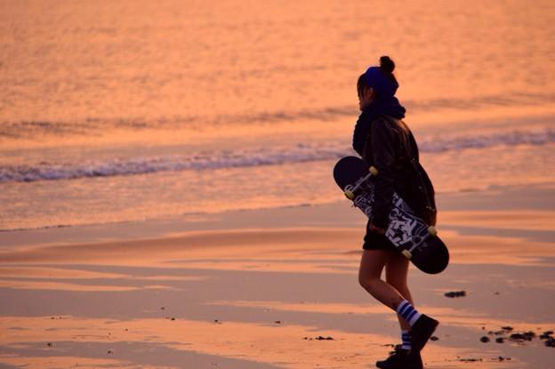 黄昏の湘南・鵠沼海岸 #湘南 #藤沢 #海 #波 surfing #wave #mysky #夕焼け