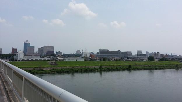 (M)神通川より富山駅方向を望む