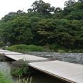 木製の沈下橋