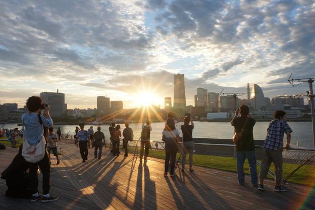 大桟橋からの夕日