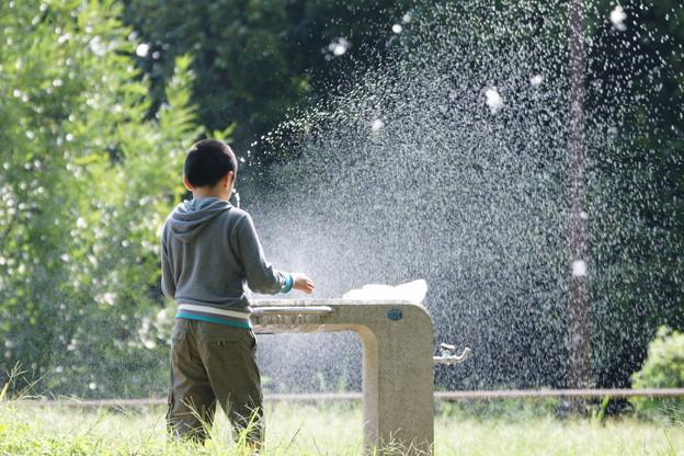 噴水の子供