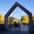 写真: 晩秋のポーリン橋