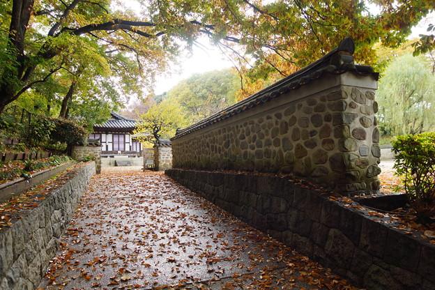 韓国庭園塀