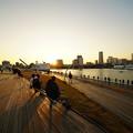 夕暮れの大桟橋