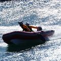写真: 消防ゴムボート