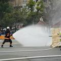 写真: 消防総合演技