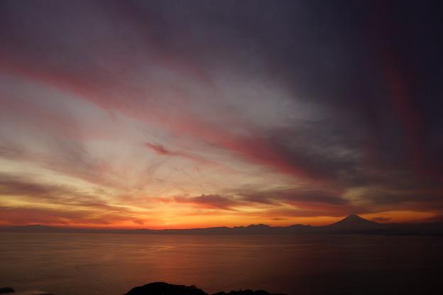 夕焼け富士