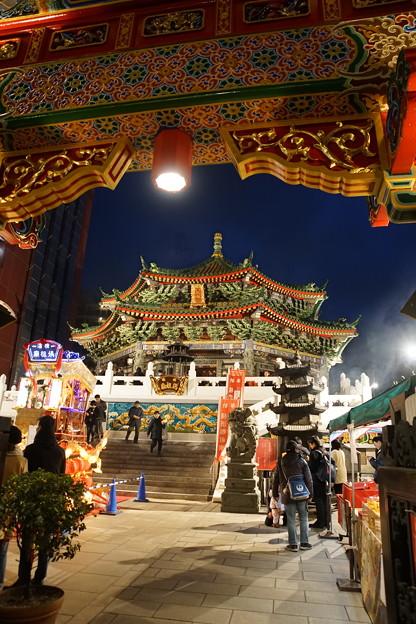 夜の媽祖廟