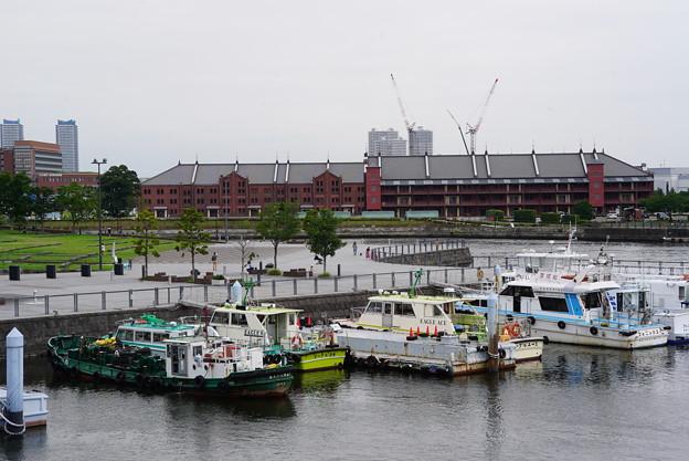 横浜港と赤レンガ倉庫
