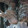 Photos: 山門の彫り物