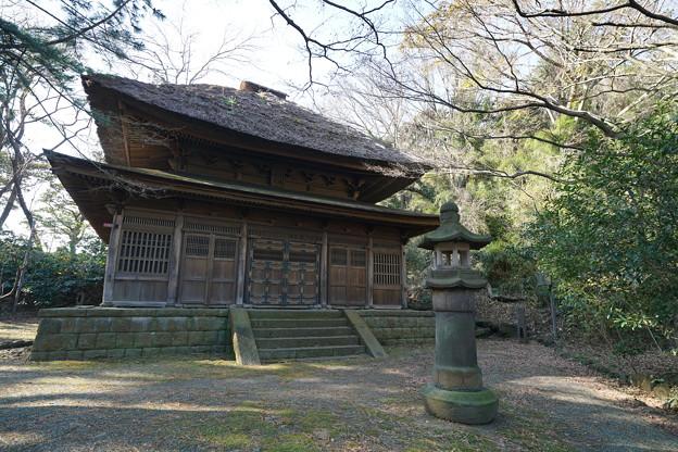 正月の旧東慶寺仏殿