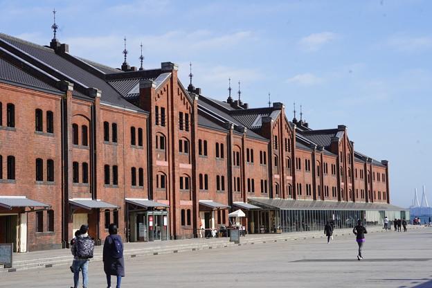冬の赤レンガ倉庫