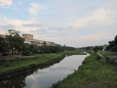 台風18号前の高野川 1