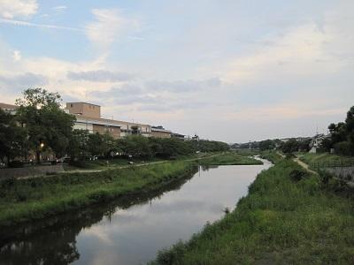 写真: 台風18号前の高野川 1