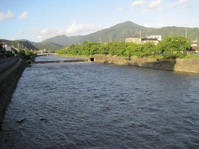 台風18号後の高野川 4