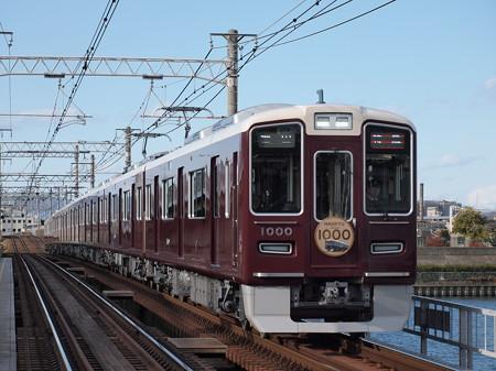 阪急1000系特急 阪急神戸線神崎川駅