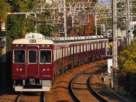 阪急7000系普通 後追い 阪急神戸線御影駅