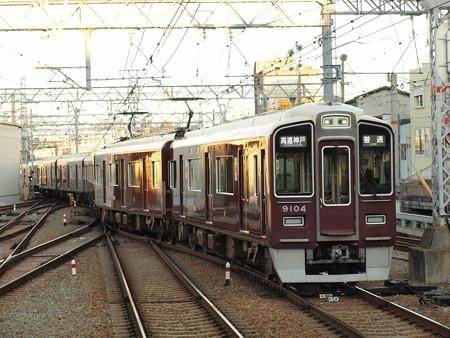 阪急9000系普通 阪急神戸線西宮北口駅