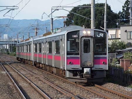 701系快速 奥羽本線撫牛子駅