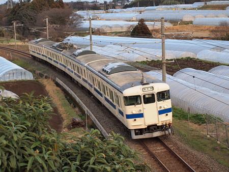 415系普通 鹿児島本線植木~田原坂
