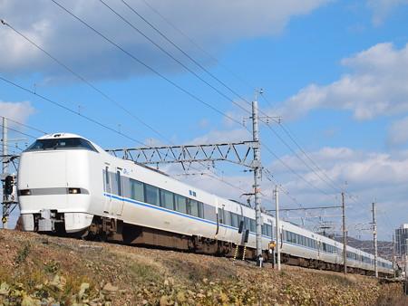 683系特急サンダーバード 東海道本線高槻~摂津富田2