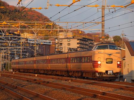 381系こうのとり回送 東海道本線山崎~島本