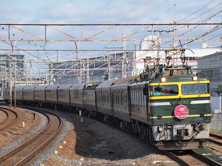 EF81 トワイライトエクスプレス 東海道本線岸部駅