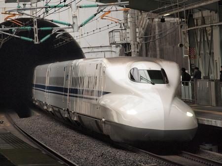N700系のぞみ 山陽新幹線新神戸駅