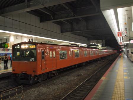 201系 終夜運転 大阪環状線大阪駅