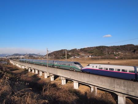 E3系+E2系 つばさ・やまびこ 東北新幹線福島~郡山