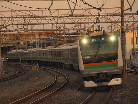 E233系普通 高崎線宮原駅