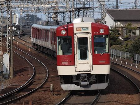 近鉄5200系後追い 近鉄名古屋線近鉄富田駅