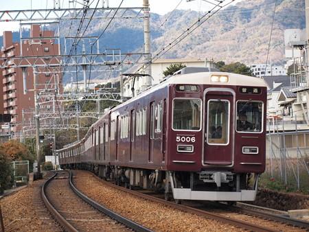 阪急5000系普通 阪急神戸線岡本~御影