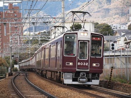 阪急8000系特急 阪急神戸線岡本~御影