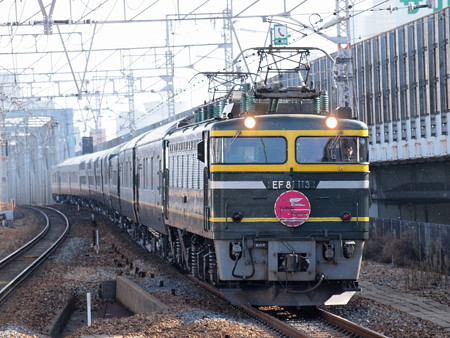 EF81 トワイライトエクスプレス 東海道本線塚本駅