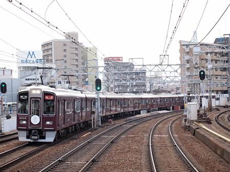 阪急9000系特急 西山天王山開業HM付き 阪急神戸線中津駅