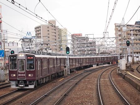 阪急8000系特急 阪急神戸線中津駅