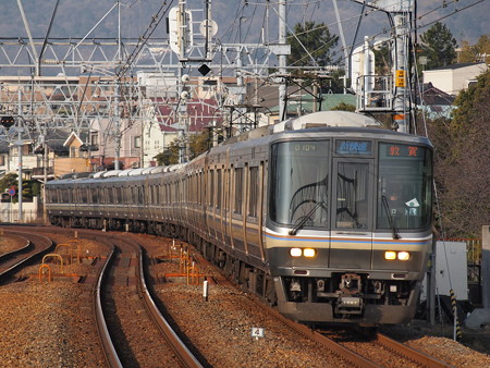 223系新快速 東海道本線さくら夙川駅